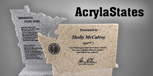 AcrylaStates - Acrylic State Shaped Awards